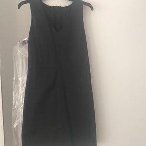 Banana republic textured black dress